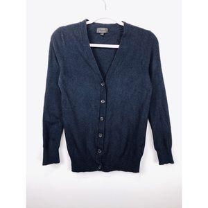 J Crew | Wool Cashmere Blend Navy Button Cardigan